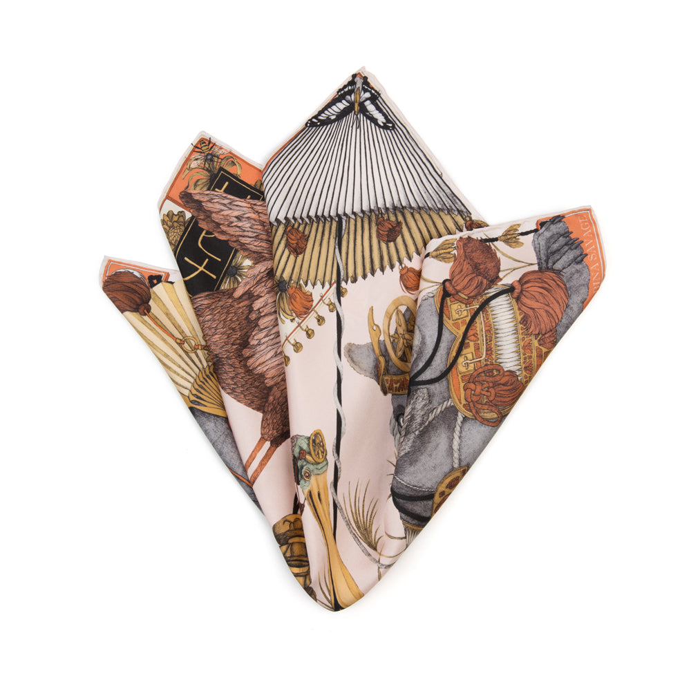 The Spoonbill and Jindo Neckerchief/Pocket Square