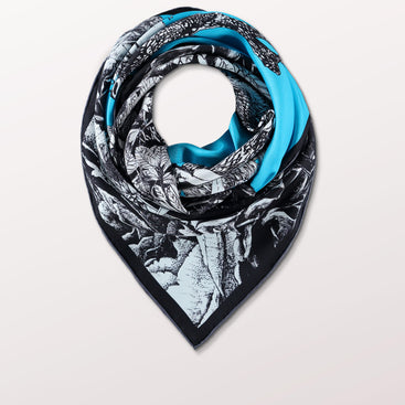 Moonphase 03 Girl by Pig, Chicken and Cow luxury scarf at Beyond Scarf, Calgary, Alberta, Canada
