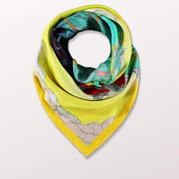 Under The Sea by Pig, Chicken and Cow luxury scarf at Beyond Scarf, Calgary, Alberta, Canada
