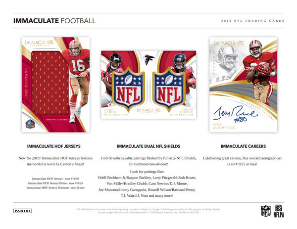 2018 Panini Immaculate Football | BH35 Live Group Breaks