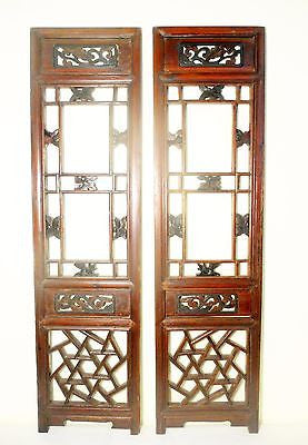 Antique Chinese Screen Panels (5747) (Pair) Cunninghamia Wood, Circa 1800-1849