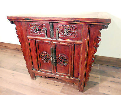 "Antique Chinese ""Butterfly"" Coffer (5348), Circa 1800-1849"