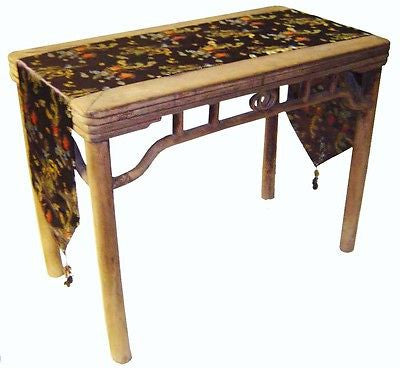 Custom-Made in USA, Art Silk Table or Bed Runner, Multi Color