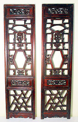 Antique Chinese Screen Panels (5112) (Pair) Cunninghamia wood, 1800-1849