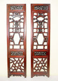Antique Chinese Screen Panels (5459) (Pair) Cunninghamia Wood, Circa 1800-1849