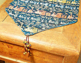 Custom-Made in USA, Art Silk Table or Bed Runner (6008)