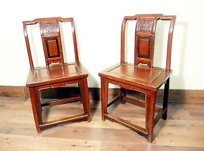 Antique Chinese Ming Chairs (5435) (Pair), Zelkova Wood, Circa 1800-1949