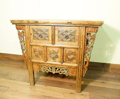 "Antique Chinese ""Butterfly"" Cabinet (5715), Circa 1800-1849"