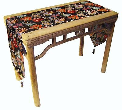 Custom-Made in USA, Art Silk Table or Bed Runner (6019)