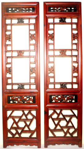 Antique Chinese Screen Panels (2523) (Pair) Cunninghamia wood