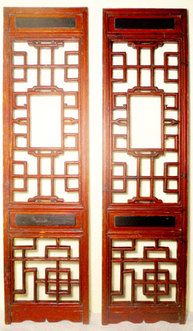 Antique Chinese Screen Panels (2557)(Pair) Cunninghamia Wood, Circa 1800-1849