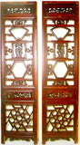 Antique Chinese Screen Panels (2634)(Pair) Cunninghamia Wood, Circa 1800-1849