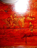 Antique Chinese Hand Painted Red Trunk (2642), Circa 1800-1849