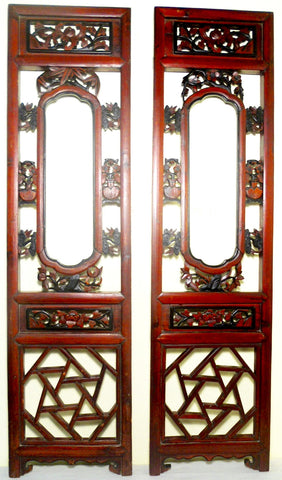 Antique Chinese Screen Panels (2669)(Pair) Cunninghamia Wood, Circa 1800-1849
