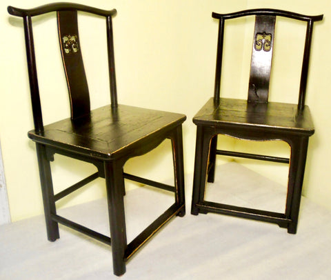 Antique Chinese High Back Chairs (2772) (Pair), Circa 1800-1849