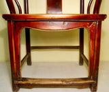 Antique Chinese Ming Arm Chair (2775), Cypress/Elm, Circa 1800-1849