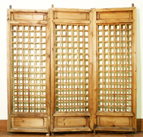 Antique Chinese Screen Panels (5127)(Temple Doors), Cunninghamia Wood, 1800-1849