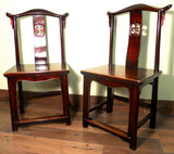 Antique Chinese High Back Chairs (5614) (Pair), Circa 1800-1849