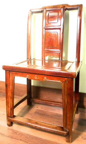 Antique Chinese Ming Chair (5797), Zelkova Wood, Circa 1800-1949
