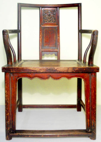 Antique Chinese Ming Arm Chair (5856), Cypress/Elm Wood, Circa 1800-1849