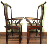 Antique Chinese High Back Arm Chairs (5911)(Pair), Circa 1800-1849