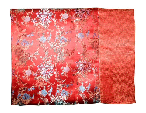 Custom-Made in USA, Art Silk Throw or Bed Scarf, (6101) Multi-Color