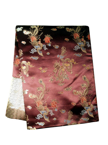 Custom-Made in USA, Art Silk Throw or Bed Scarf (6111), Multi-Color