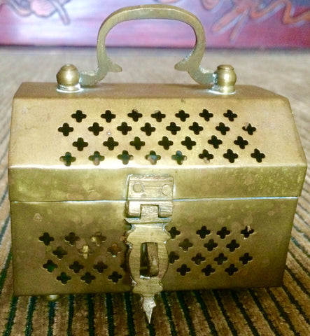 Vintage Copper Potpourri Box (7014)