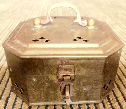 Vintage Copper Potpourri Box (7015)