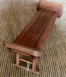 Antique Miniature Bamboo Folding Bench (7018), Circa 1800-1849
