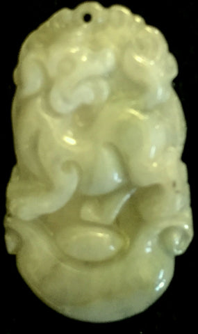 Natural Jadeite Light Celadon Green Jade Tablet/Pendant (7134)