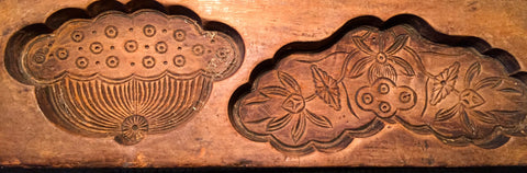 Antique Hand Carved Wooden Candy/Cookie/Cake Mold (7274), Circa Late of 1800