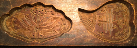 Antique Hand Carved Wooden Candy/Cookie/Cake Mold (7280), Circa Late of 1800