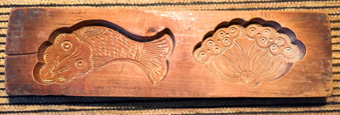 Antique Hand Carved Wooden Candy/Cookie/Cake Mold (7350), Circa Late of 1800