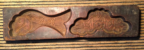 Antique Hand Carved Wooden Candy/Cookie/Cake Mold (7362), Circa Late of 1800