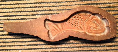 Antique Hand Carved Wooden Candy/Cookie/Cake Mold (7428), Circa Late of 1800
