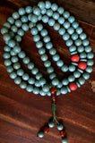 Handmade Turquoise Mala Necklace, 108 Beads (8084)