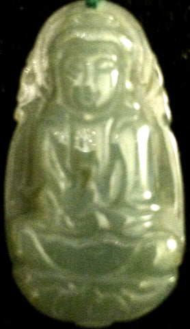 Natural Jadeite Green Jade Tablet/Pendant (8122)