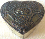 Vintage Silver-Plated Embossed Jewelry/Trinket Box (8167), Made in Japan