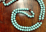 Handmade Turquoise Mala Necklace, 108 Beads (8300)