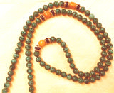 Handmade Green Malachite Mala Necklace (8308), 108 Beads