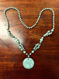 Handmade Turquoise Necklace (8309)