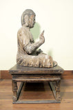 Buddha Statue, Wood Sculpture with Gesso/Gold Leaf (9999),Ming Dynasty