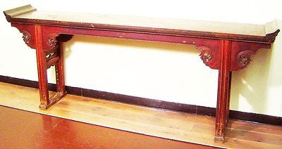 Antique Chinese Altar Table (3138), Zelkova Wood, Ming Style, Circa 1800-1849