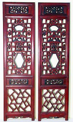 Antique Chinese Screen Panels (3248) (Pair) Cunninghamia wood, Circa 1800-1849