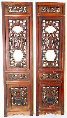 Antique Chinese Screen Panels (3250) (Pair) Cunninghamia wood, Circa 1800-1849