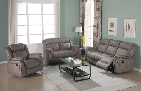 7STAR RECLINER SOFA 3+2 MANUAL  AVAILABLE IN DARK GREY & LIGHT GREY