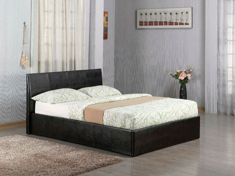 Black Faux Leather Double Bed with & without Storage Bed Budget Unbeatable Price