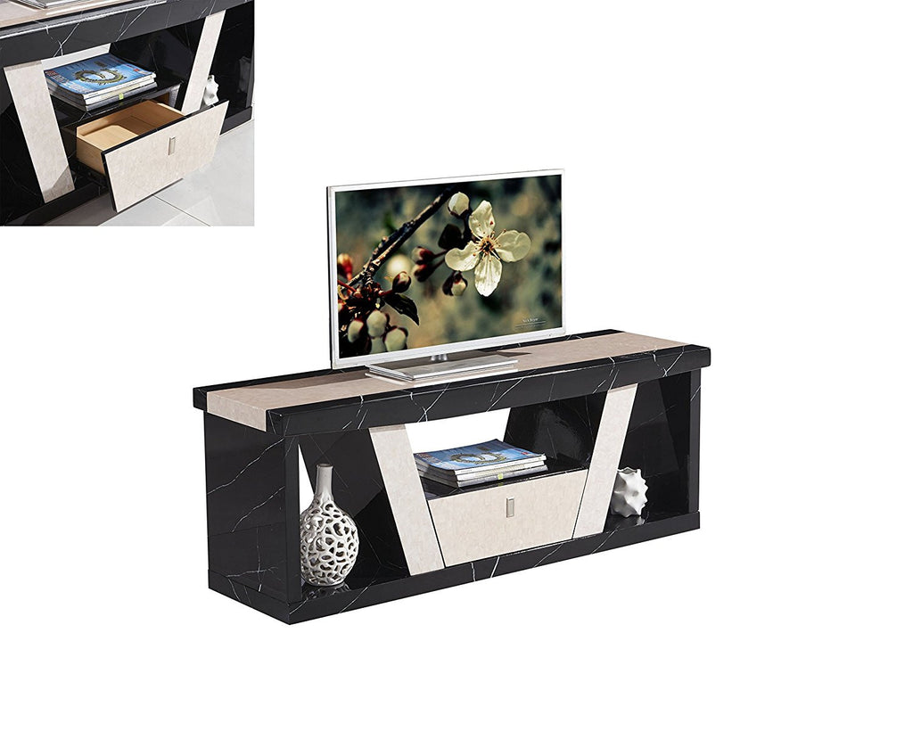 7star Roni Tv Unit Marble Effect Available In Black And