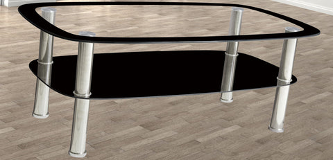 7Star Budget Glass Coffee Table with shelf